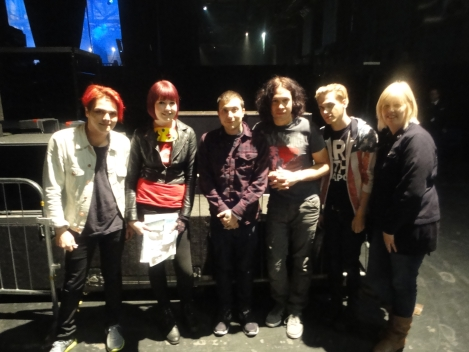 Caz and Becki Hill with MCR. Photograph property of Caz.